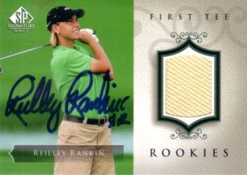Reilley Rankin autographed 2004 SP Signature golf tournament worn shirt card