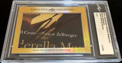 Renee Zellweger 2015 Leaf Masterpiece Cut Signature certified autograph card 1/1 JSA