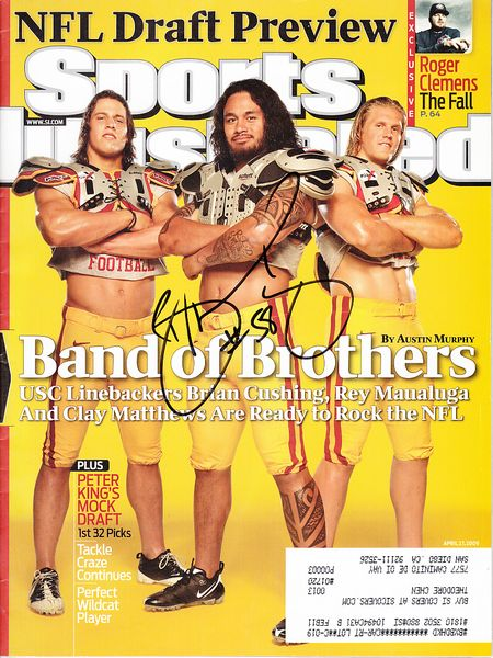 Rey Maualuga autographed USC Trojans 2009 Sports Illustrated