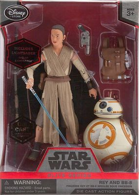 Rey with BB-8 Star Wars Elite Series die cast 6 inch action figure with lightsaber NEW IN BOX