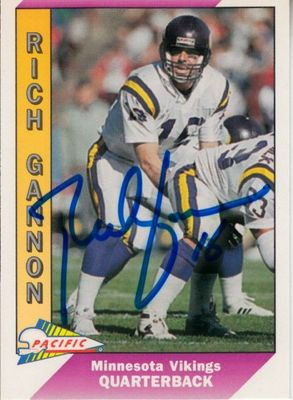 Rich Gannon autographed Minnesota Vikings 1993 Pacific card