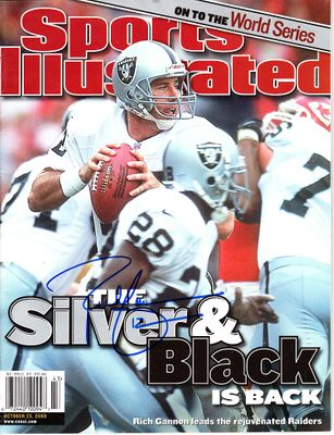 Rich Gannon autographed Oakland Raiders 2000 Sports Illustrated