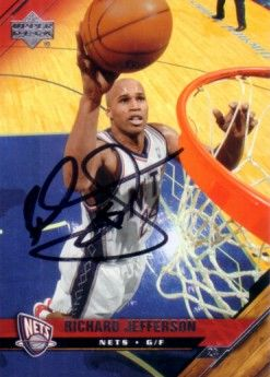 Richard Jefferson autographed New Jersey Nets 2005-06 Upper Deck card