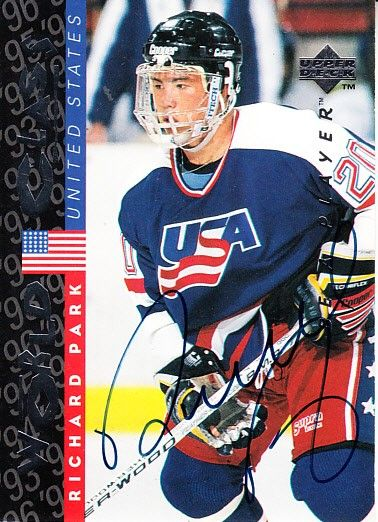 Richard Park certified autograph Team USA 1995 Be A Player card