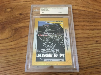 Richard Petty 2016 Leaf Masterpiece Cut Signature autograph card 1/1 JSA NASCAR