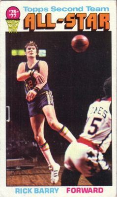 Rick Barry 1976-77 Topps card #132 Ex