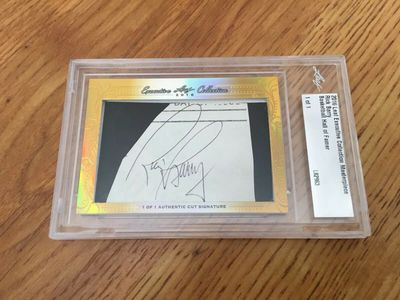 Rick Barry 2016 Leaf Masterpiece Cut Signature certified autograph card 1/1 JSA