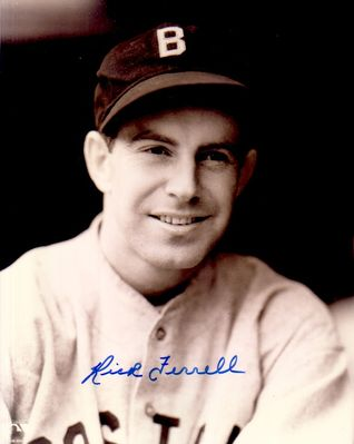 Rick Ferrell autographed Boston Red Sox 8x10 portrait photo