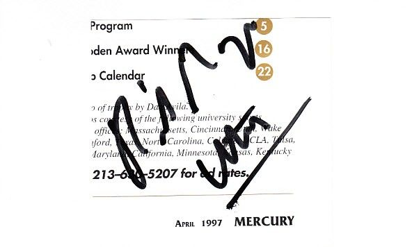 Rick Majerus autograph or cut signature mounted on 4x6 card