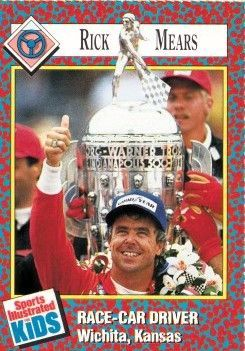 Rick Mears 1991 Sports Illustrated for Kids card