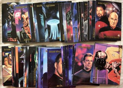 1993 Star Trek Master Series SkyBox complete 90 card set with Rick Sternbach autographed card