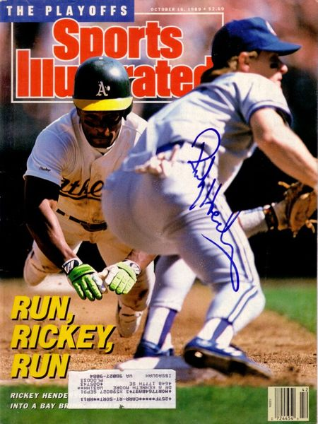 Rickey Henderson autographed Oakland A's 1989 Sports Illustrated