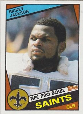 Rickey Jackson Saints 1984 Topps Rookie Card #303 NrMt-Mt