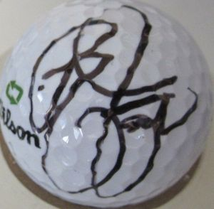 Rickie Fowler autographed golf ball