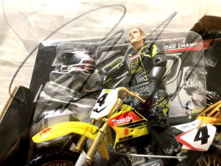 Ricky Carmichael autographed 2005 Road Champs action figure motocross or supercross toy