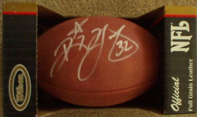 Ricky Watters autographed Wilson NFL game model football