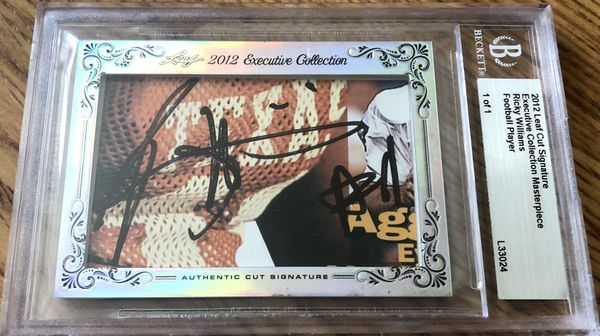 Ricky Williams 2012 Leaf Masterpiece Cut Signature certified autograph card 1/1 JSA