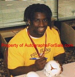 Ricky Williams autographed Wilson NFL game model leather football