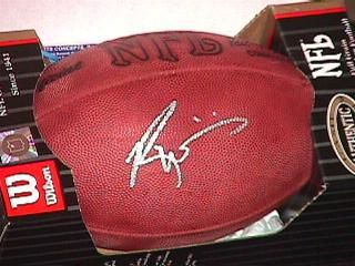 Ricky Williams autographed Wilson NFL game model leather football (Total Sports Concepts)