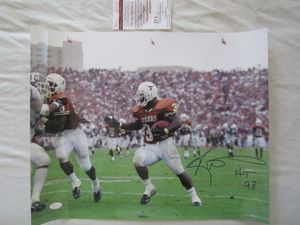 Ricky Williams autographed Texas Longhorns 16x20 poster size photo inscribed HT 98 (JSA)