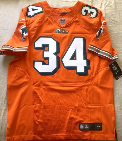 Ricky Williams Miami Dolphins authentic Nike Elite orange game model jersey NEW WITH TAGS