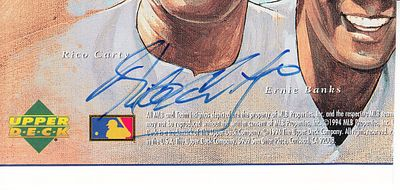 Rico Carty autographed Upper Deck card sheet cut signature (JSA)