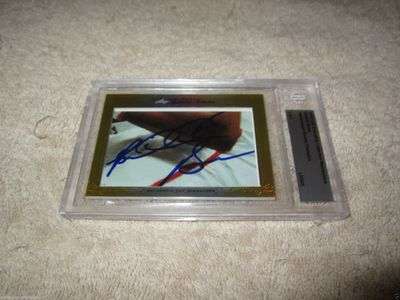 Riddick Bowe 2014 Leaf Masterpiece Cut Signature certified autograph card 1/1 PSA