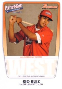 Rio Ruiz 2011 Perfect Game Topps Bowman Rookie Card (AFLAC)