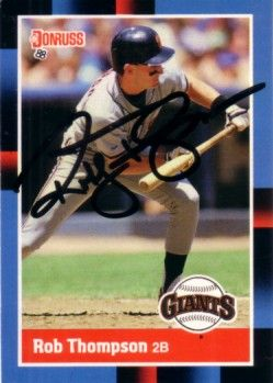 Robby Thompson autographed San Francisco Giants 1988 Donruss card