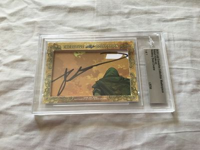 Robert Kirkman 2018 Leaf Masterpiece Cut Signature certified autograph card 1/1 JSA Walking Dead