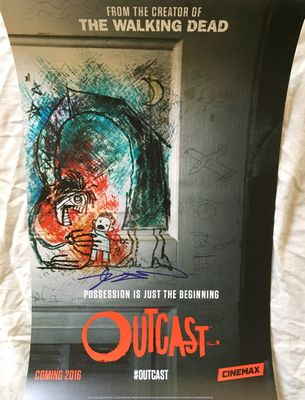 Robert Kirkman autographed Outcast 2015 San Diego Comic-Con exclusive mini poster