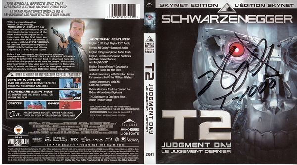 Robert Patrick autographed Terminator 2 Judgment Day Skynet Edition movie Blu-ray cover insert