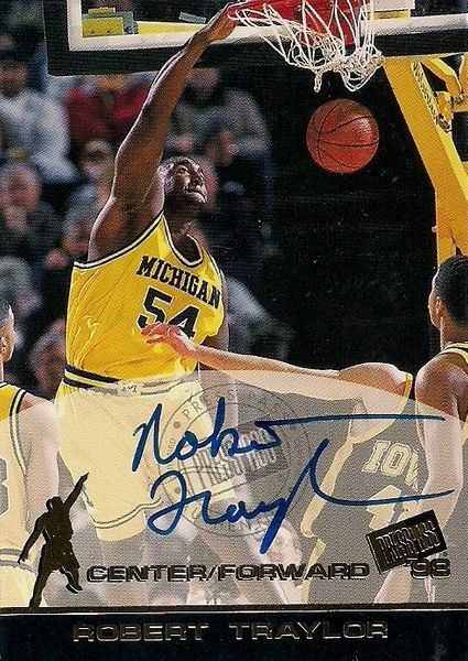Robert Traylor certified autograph Michigan 1998 Press Pass card