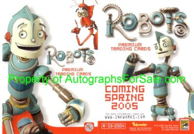 Robots movie 2004 Comic-Con promo card R-SD-2004