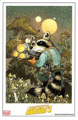 Rocket Raccoon #1 Marvel Comics 2014 Comic-Con promo artwork print