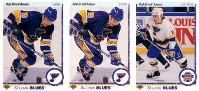 Rod Brind'Amour lot of 3 1990-91 Upper Deck Rookie Cards MINT