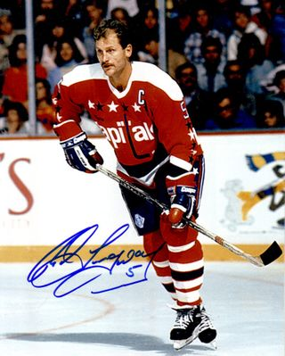 Rod Langway autographed Washington Capitals 8x10 photo
