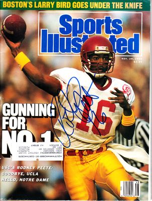 Rodney Peete autographed USC Trojans 1988 Sports Illustrated