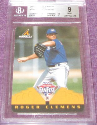 Roger Clemens 1997 Pinnacle All-Star FanFest Playing Cards BGS graded 9 RARE 1/1