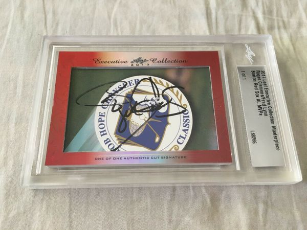 Roger Clemens and Fred Lynn 2017 Leaf Masterpiece Cut Signature certified autograph card 1/1 JSA
