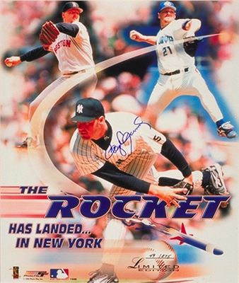 Roger Clemens autographed 1999 New York Yankees 16x20 poster size photo #40/275 (TriStar)