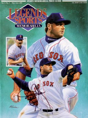Roger Clemens autographed Boston Red Sox 1992 Legends magazine