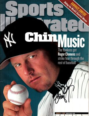 Roger Clemens autographed New York Yankees 1999 Sports Illustrated