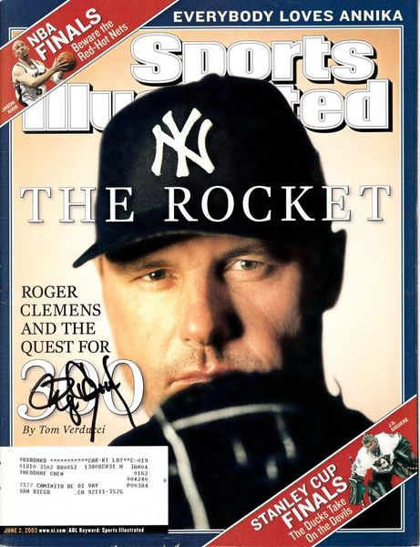 Roger Clemens autographed New York Yankees 2003 Sports Illustrated