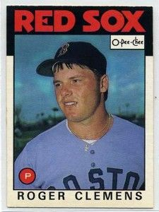 Roger Clemens Boston Red Sox 1986 O-Pee-Chee card #98