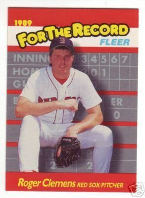 Roger Clemens Boston Red Sox 1989 Fleer For The Record insert card #2
