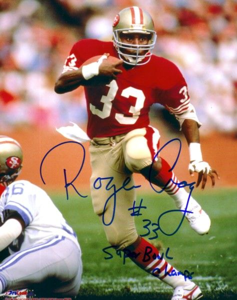 Roger Craig autographed San Francisco 49ers 8x10 photo inscribed Super Bowl Champs