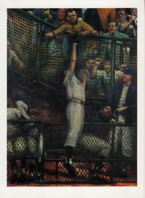 Roger Maris New York Yankees artwork postcard