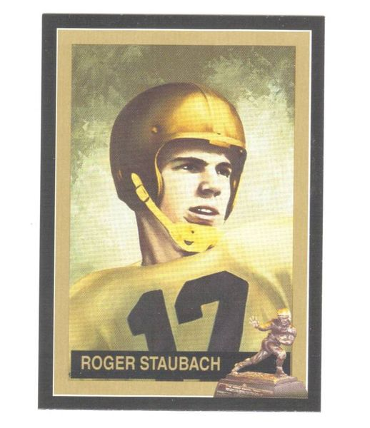 Roger Staubach Navy 1963 Heisman Trophy winner card