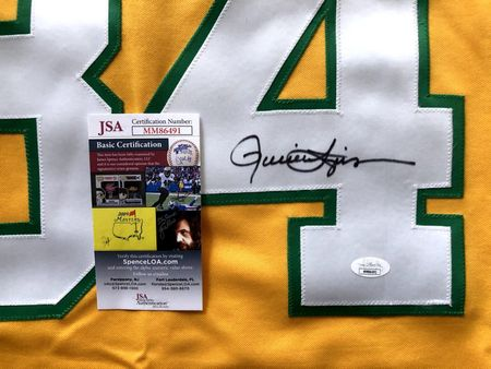 Rollie Fingers autographed Oakland Athletics 1973 authentic Majestic stitched throwback jersey JSA